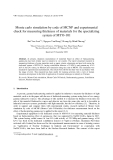 "Báo cáo ""Monte carlo simulation by code of MCNP and experimental check for measuring thickness of materials for the specializing system of MYO-101 """