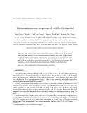 "Báo cáo "" Thermoluminescence properties of Li2B4O7 :Cu material """