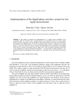 "Báo cáo ""  Implementation of the digital phase-sensitive system for low signal measurement """