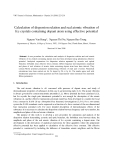 "Báo cáo "" Calculation of dispersion relation and real atomic vibration of fcc crystals containing dopant atom using effective potential """