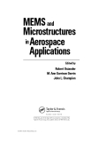 MEMS and Microstructures in Aerospace Applications Edited byRobert Osiander