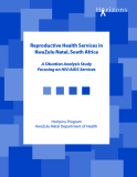 A Situation Analysis Study Focusing on HIV/AIDS Services
