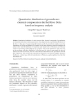 "Báo cáo ""  Quantitative distribution of groundwater   chemical components in the Red River Delta   based on frequency analysis  """