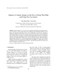 "Báo cáo ""  Impacts of climate change on the flow in Hong-Thai Binh and Dong Nai river basins """