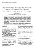 """Báo cáo """" Sequence stratigraphy of Quatemary depositions on the land and at the continental shelf of Vietnam """""""