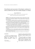 "Báo cáo "" Classification and assessment of bioclimatic conditions for tourism, health resort and some weather therapies in Vietnam """