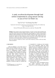 "Báo cáo ""  A study on urban development through land surface temperature by using remote sensing: in case of Ho Chi Minh City """
