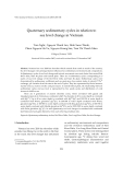 "Báo cáo ""  Quaternary sedimentary cycles in relation to  sea level change in Vietnam  """