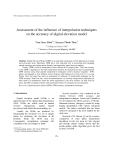"Báo cáo ""  Assessment of the influence of interpolation techniques on the accuracy of digital elevation model """