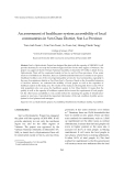 "Báo cáo ""  An assessment of healthcare system accessibility of local  communities in Yen Chau District, Son La Province   """