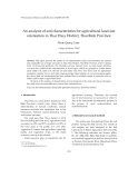"""Báo cáo """" An analysis of soil characteristics for agricultural land use orientation in Thai Thuy District, Thai Binh  """""""