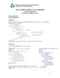 Feaculty of Computer Science and Engineering Department of Computer Scienc Tutorial  3 Questions