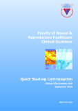Faculty of Sexual & Reproductive Healthcare Clinical Guidance: Quick Starting Contraception
