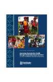Improving Reproductive Health through Community-Based Services: 25 Years of Pathfinder International Experience