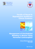 Management of Unscheduled Bleeding in Women Using Hormonal Contraception