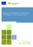Report on the Regulation of Reproductive  Cell Donation in the European Union
