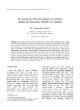 "Báo cáo "" Economic growth and changes in welfares during the economic reforms in Vietnam """