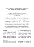 "Báo cáo "" The development of financial systems of ASEAN-5 and Vietnam: A comparative analysis """