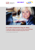 ICT enabled independent living for elderly: A status-quo analysis on products and the research landscape  in the field of Ambient Assisted Living (AAL) in EU-27