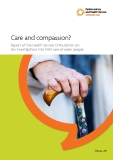 Care and compassion? Report of the Health Service Ombudsman on  ten investigations into NHS care of older people