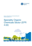Speciality Organic  Chemicals Sector (EPR  4.02)