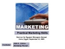 Practical Marketing SkillsSeminar for Egyptair Managers Abroad Cairo, Egypt, September 22, 2005