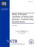 Study of Security  Attributes of Smart Grid  Systems – Current Cyber  Security Issues