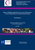 Impact of Health on Education Access and Achievement:  A Cross-National Review of the Research Evidence