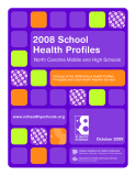 2008 School Health Profiles North Carolina Middle and High Schools
