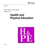 The Ontario Curriculum Grades 1-8: Health and Physical Education