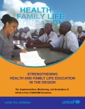 STRENGTHENING  HEALTH AND FAMILY LIFE EDUCATION  IN THE REGION