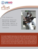 First Principles: Designing Effective Education Programs for School Health in Developing Countries