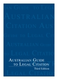 Australian Guide to Legal Citation (3rd edition)