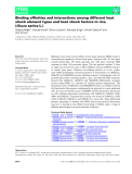 Báo cáo khoa học: Binding affinities and interactions among different heat shock element types and heat shock factors in rice (Oryza sativa L.)