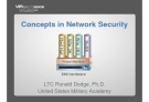 Concepts in Network Security: LTC Ronald Dodge, Ph.D. United States Military Academy