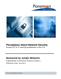 Perceptions About Network Security: Survey of IT & IT security practitioners in the U.S.