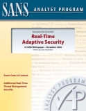 Real-Time   Adaptive Security: A SANS Whitepaper – December 2008