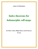 "Đề tài "" Index theorems for holomorphic self-maps """