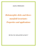 "Đề tài ""  Holomorphic disks and threemanifold invariants: Properties and applications """