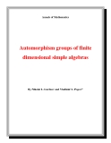 "Đề tài ""  Automorphism groups of finite dimensional simple algebras """