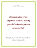 "Đề tài "" Determination of the algebraic relations among special Γ-values in positive characteristic """