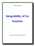 "Đề tài ""  Integrability of Lie brackets """