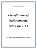 "Đề tài "" Classification of local conformal nets. Case c"
