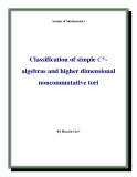 "Đề tài "" Classification of simple C*algebras and higher dimensional noncommutative tori """