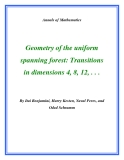 "Đề tài ""  Geometry of the uniform spanning forest: Transitions in dimensions 4, 8, 12, . . . """