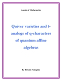 "Đề tài ""  Quiver varieties and tanalogs of q-characters of quantum affine algebras """
