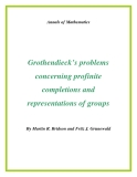 "Đề tài ""  Grothendieck's problems concerning profinite completions and representations of groups """
