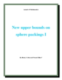 "Đề tài "" New upper bounds on sphere packings I """