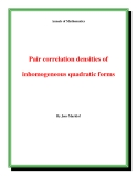 "Đề tài "" Pair correlation densities of inhomogeneous quadratic forms """