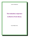 "Đề tài "" The ionization conjecture in Hartree-Fock theory """